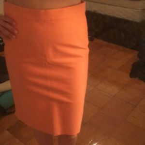 Peach Banana Republic pencil skirt